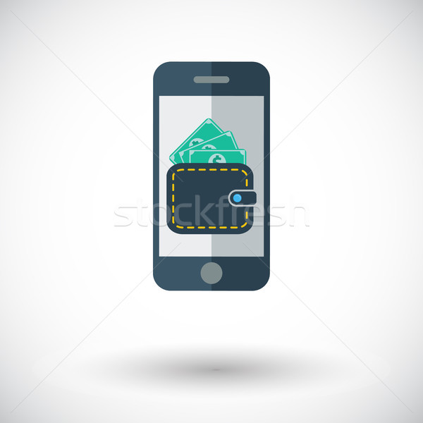Telefon cüzdan ikon beyaz iş dizayn Stok fotoğraf © smoki