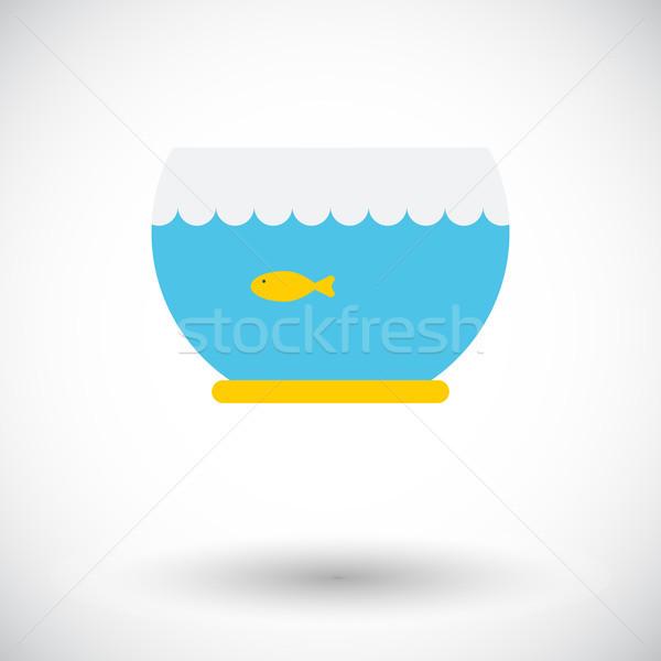 Akvaryum ikon vektör web hareketli uygulamaları Stok fotoğraf © smoki