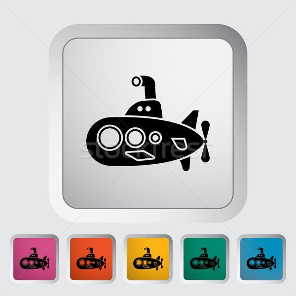 подводная лодка икона вектора веб мобильных применения Сток-фото © smoki