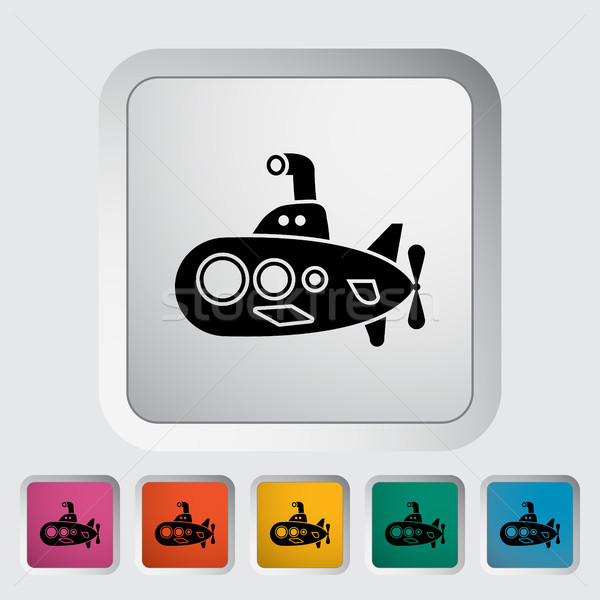 Onderzeeër icon vector web mobiele toepassingen Stockfoto © smoki