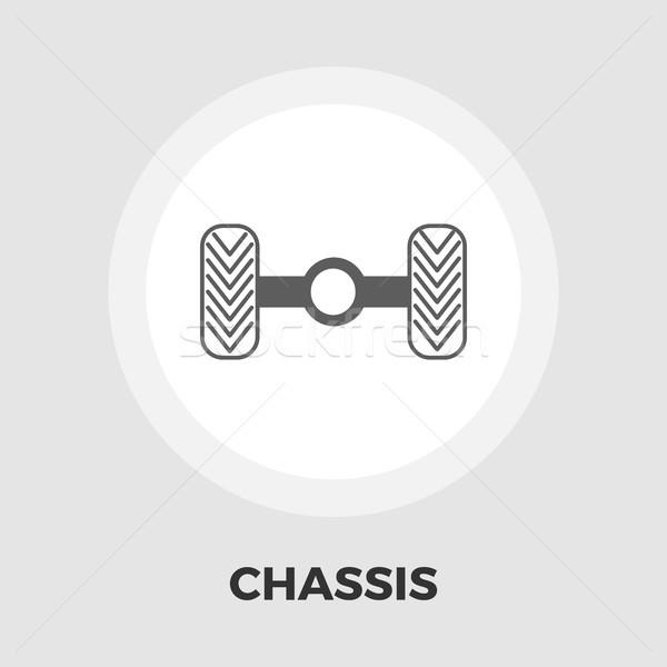 Chassis car icon flat Stock photo © smoki