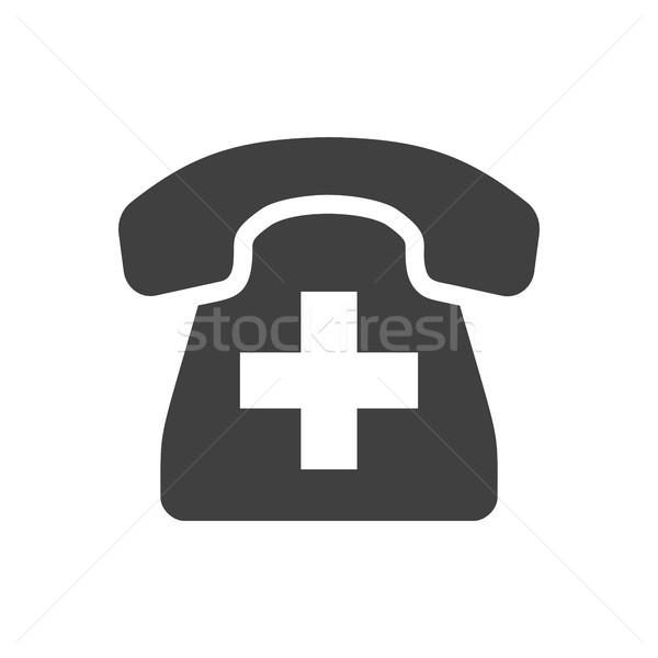 Emergency Phone Vector Icon Stock photo © smoki