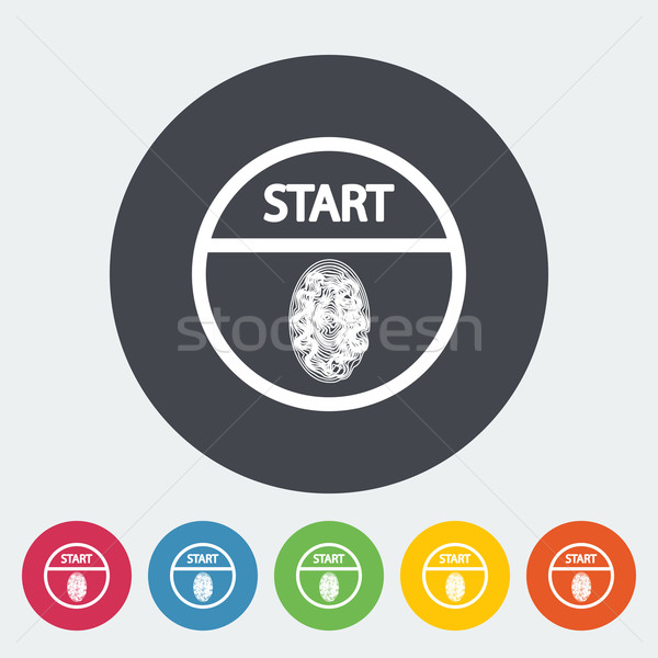 Start-stop button is protected by fingerprint. Stock photo © smoki