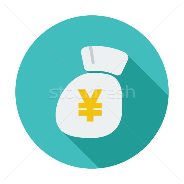Yen icono color negocios resumen diseno Foto stock © smoki