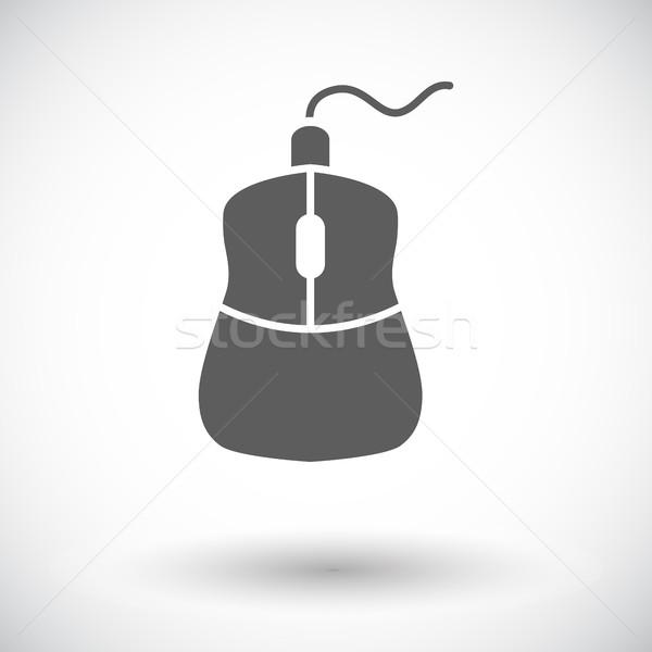 Компьютерная мышь икона белый дизайна технологий черный Сток-фото © smoki