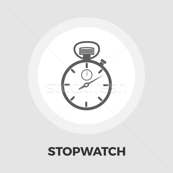 Stopwatch icon flat Stock photo © smoki
