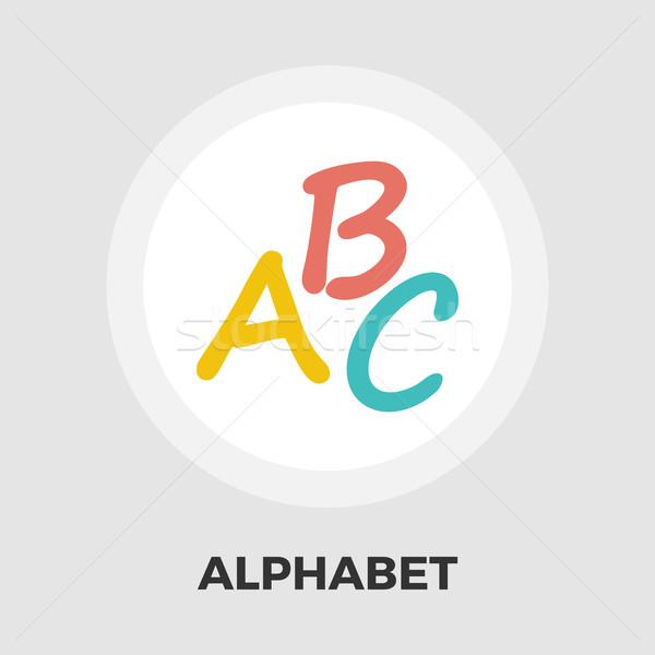 алфавит икона вектора изолированный белый Сток-фото © smoki