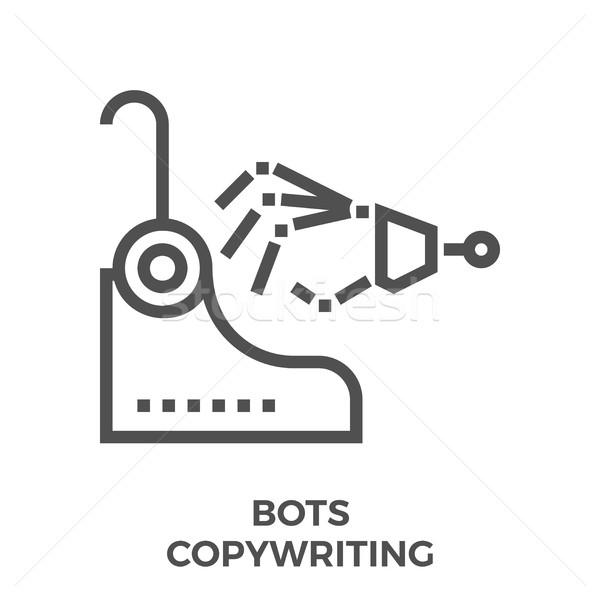 Bots copywriting icon Stock photo © smoki