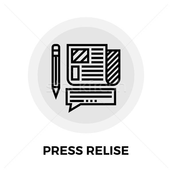 Press release Line Icon Stock photo © smoki