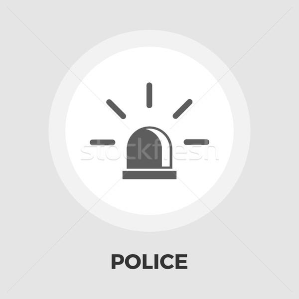 Police icon flat Stock photo © smoki