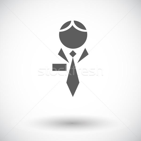 Ludzi ikona biały biuro biznesmen grupy Zdjęcia stock © smoki