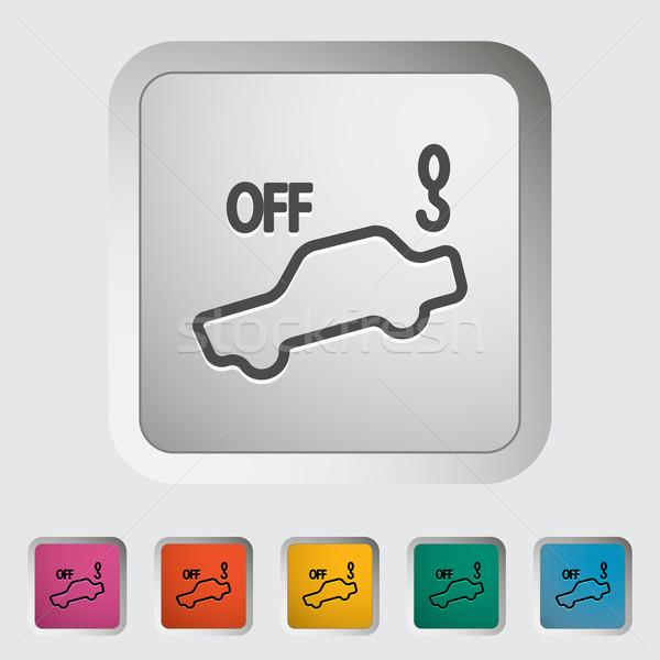 Tow away alarm off Stock photo © smoki