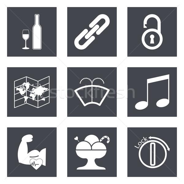 Icons for Web Design set 48 Stock photo © smoki