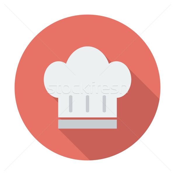 Szakács sapka szín ikon terv felirat szakács Stock fotó © smoki