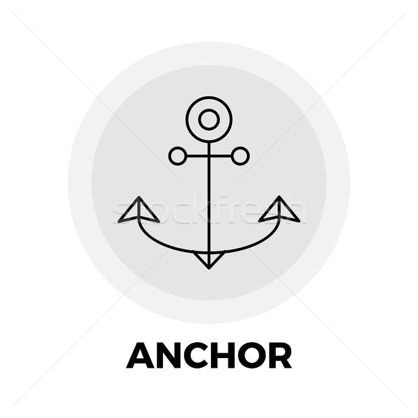 Anker lijn icon vector afbeelding object Stockfoto © smoki