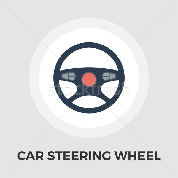 Araba direksiyon ikon vektör yalıtılmış beyaz Stok fotoğraf © smoki