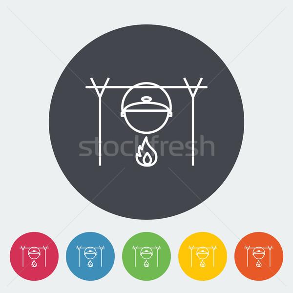 Pot icon Stock photo © smoki