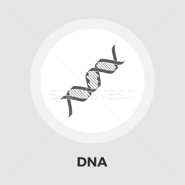 Сток-фото: ДНК · икона · вектора · изолированный · белый