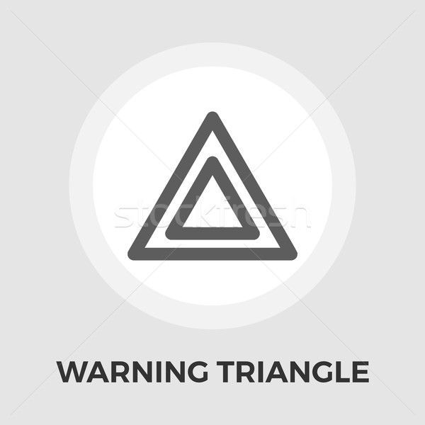 Warning triangle vector flat icon Stock photo © smoki
