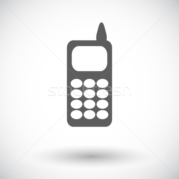 телефон икона белый телефон клавиатура мобильных Сток-фото © smoki