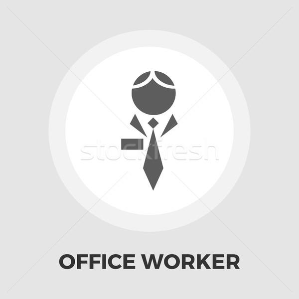 Menselijke icon vector geïsoleerd witte Stockfoto © smoki