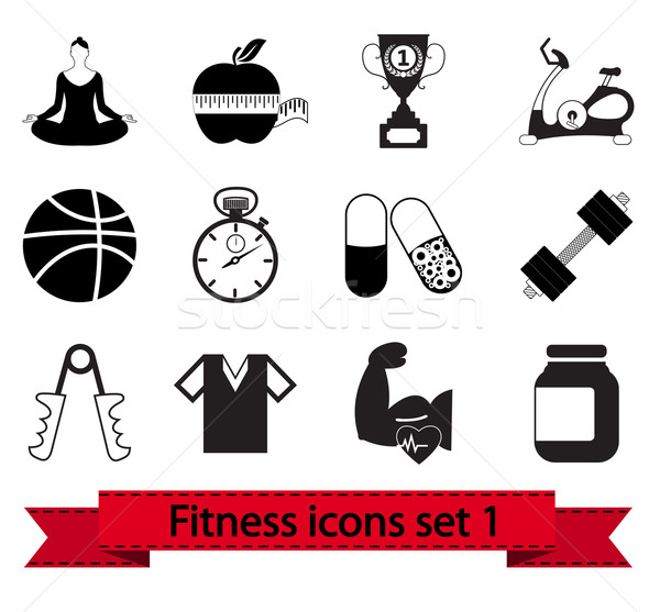Fitness icon 1 Stock photo © smoki