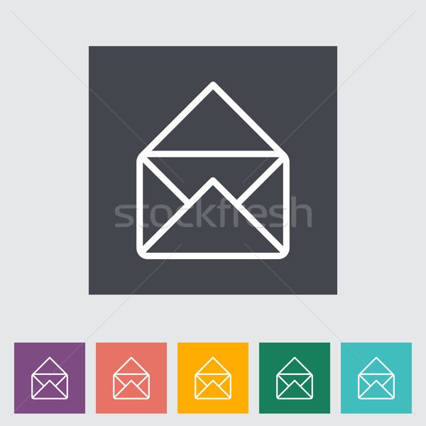 Envelope flat icon. Stock photo © smoki