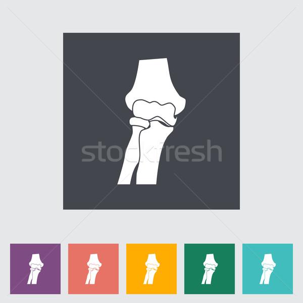 Knee-joint single flat icon. Stock photo © smoki