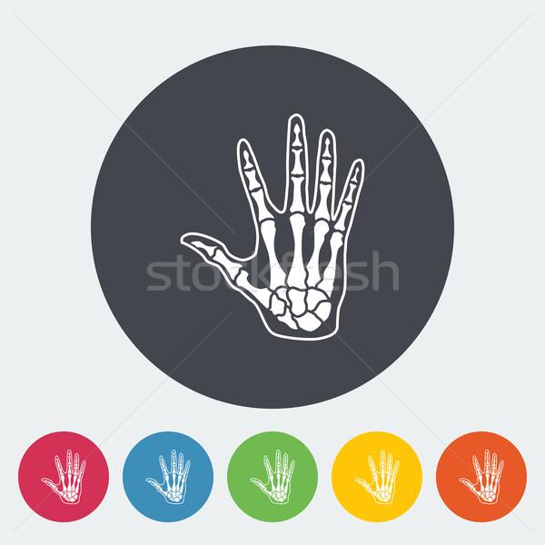 Anatómia kéz ikon kör test egészség Stock fotó © smoki
