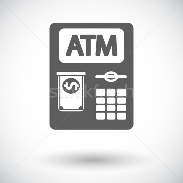 ATM ikon beyaz iş para klavye Stok fotoğraf © smoki