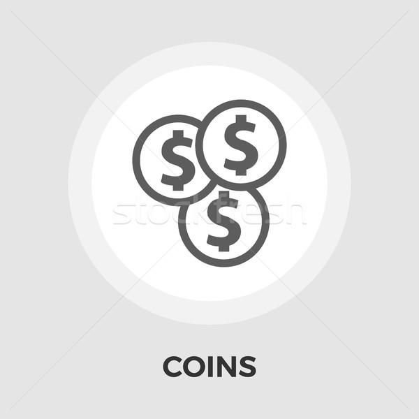Dollar coin flat icon Stock photo © smoki