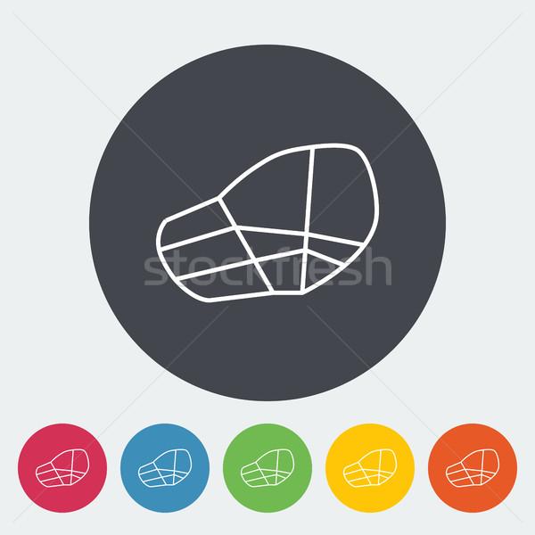 Kaganiec ikona cienki line wektora internetowych Zdjęcia stock © smoki