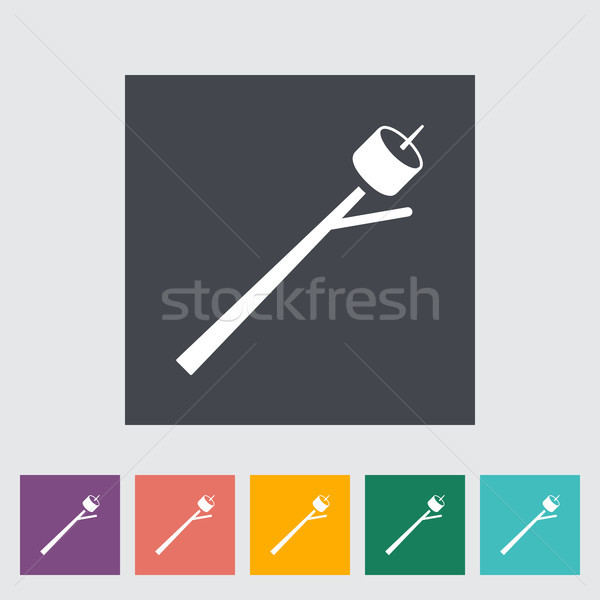 Heemst icon knop eten dessert cartoon Stockfoto © smoki