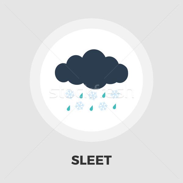 Sleet icon flat Stock photo © smoki
