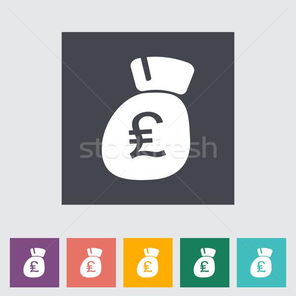 Pound sterling flat icon. Stock photo © smoki