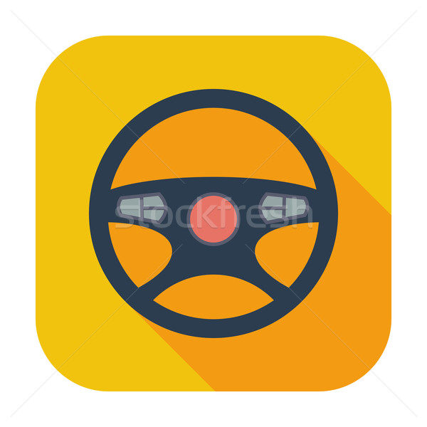 Car Steering Wheel icon. Stock photo © smoki