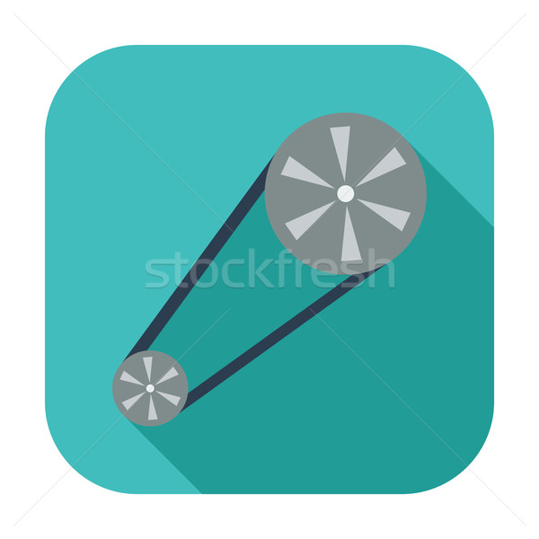 Timing gordel icon kleur ontwerp technologie Stockfoto © smoki