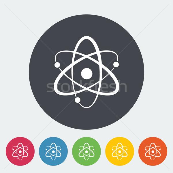 Atom icon Stock photo © smoki
