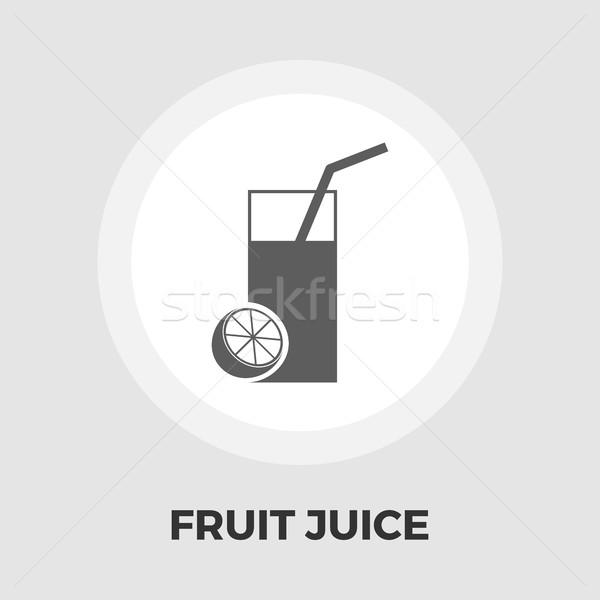 Gyümölcslé ikon vektor izolált fehér szerkeszthető Stock fotó © smoki