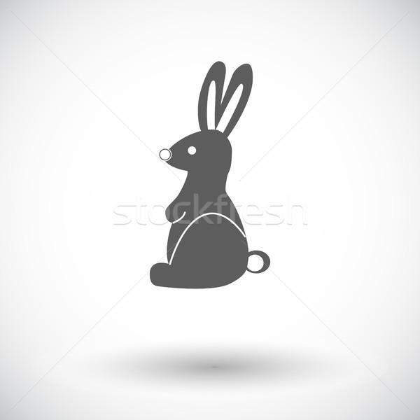 Rabbit single icon. Stock photo © smoki