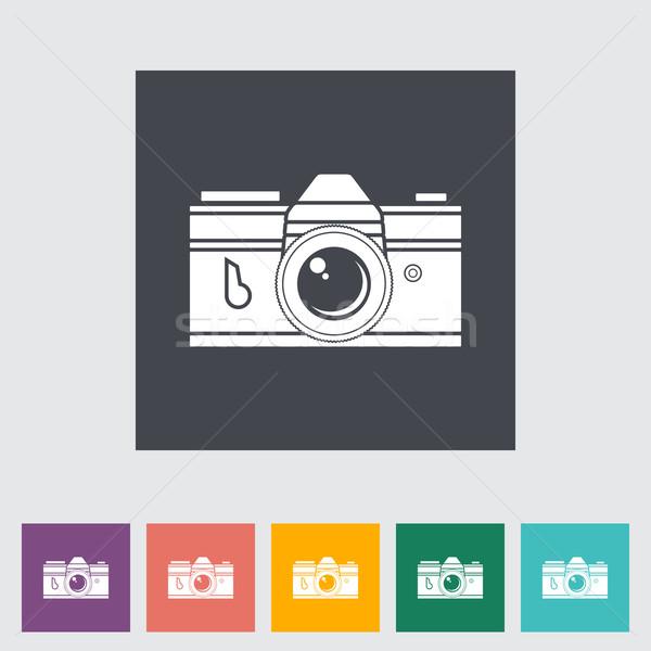 Icon vintage camera. Stock photo © smoki