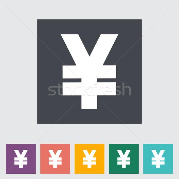 Yen ikon iş soyut dizayn imzalamak Stok fotoğraf © smoki