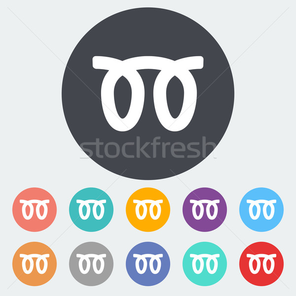 Gloed plug icon cirkel auto teken Stockfoto © smoki