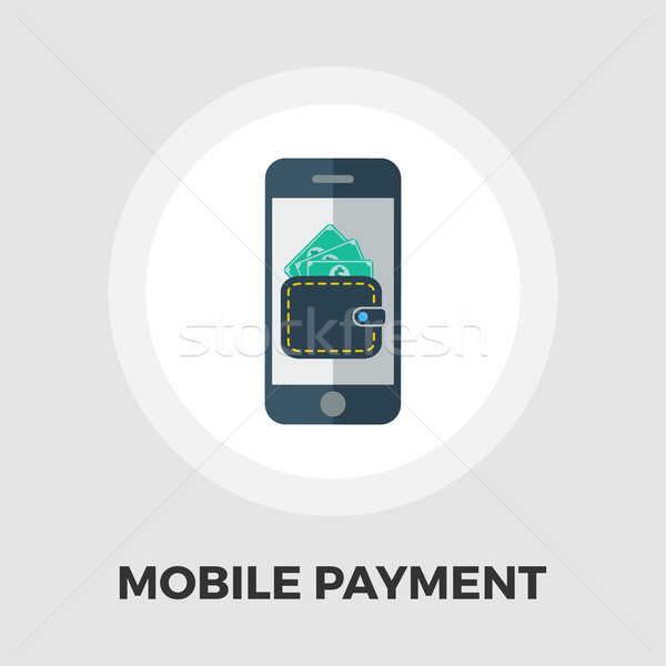 Mobile payment icon flat Stock photo © smoki