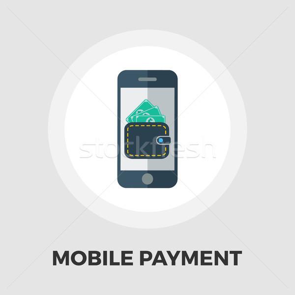 Mobile Bezahlung Symbol Vektor isoliert weiß Stock foto © smoki