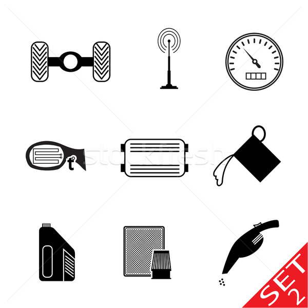 Car Parts icon set 2 Stock photo © smoki
