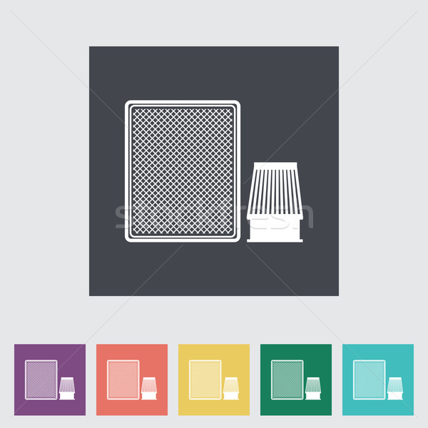 Automotive filter flat icon. Stock photo © smoki