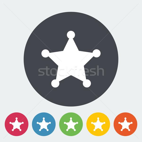 Police single flat icon. Stock photo © smoki