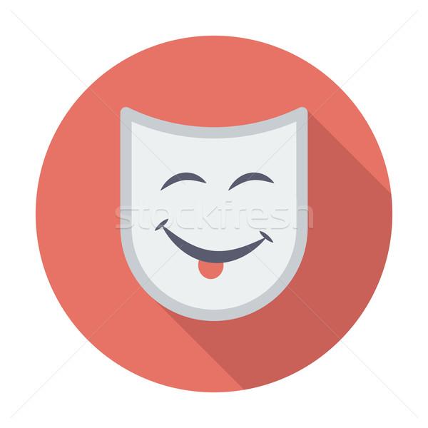 Teatrale maschera colore icona design verde Foto d'archivio © smoki