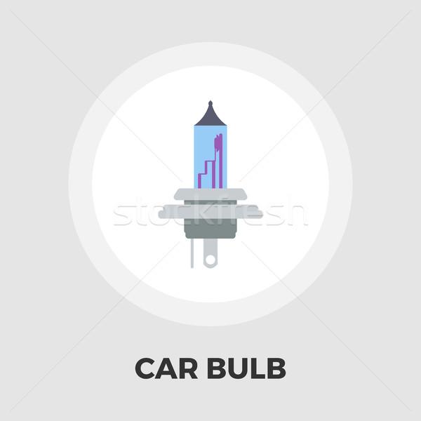 Xénon voiture lampe icône vecteur isolé Photo stock © smoki